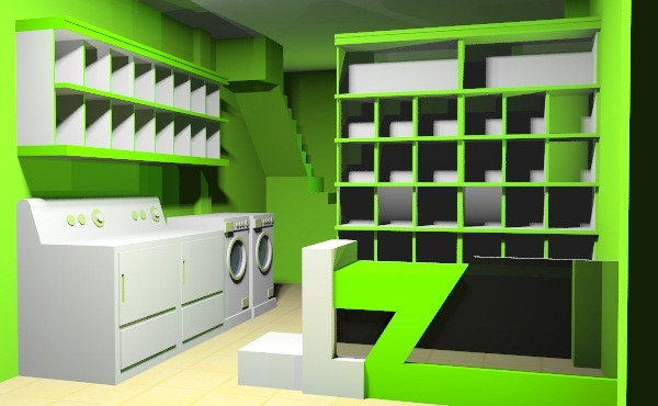 contoh desain interior usaha laundry
