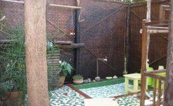 desain kamar mandi terbuka alam