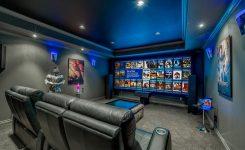 desain ruang home theater ruang mungil