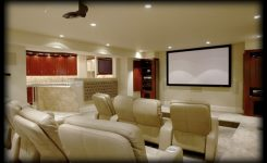 ide ruang home theater minimalis