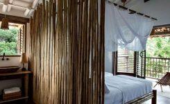 ide sekat ruangan dengan bambu