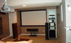 konsep ruang home theater sederhana