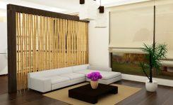 partisi ruangan dengan bambu